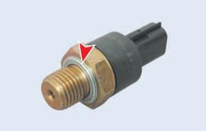 Соединение датчика с блоком цилиндров уплотняется кольцом из мягкого металла