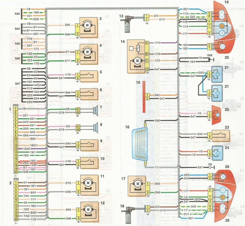 Схемы заднего жгута проводов Nissan Almera 2013