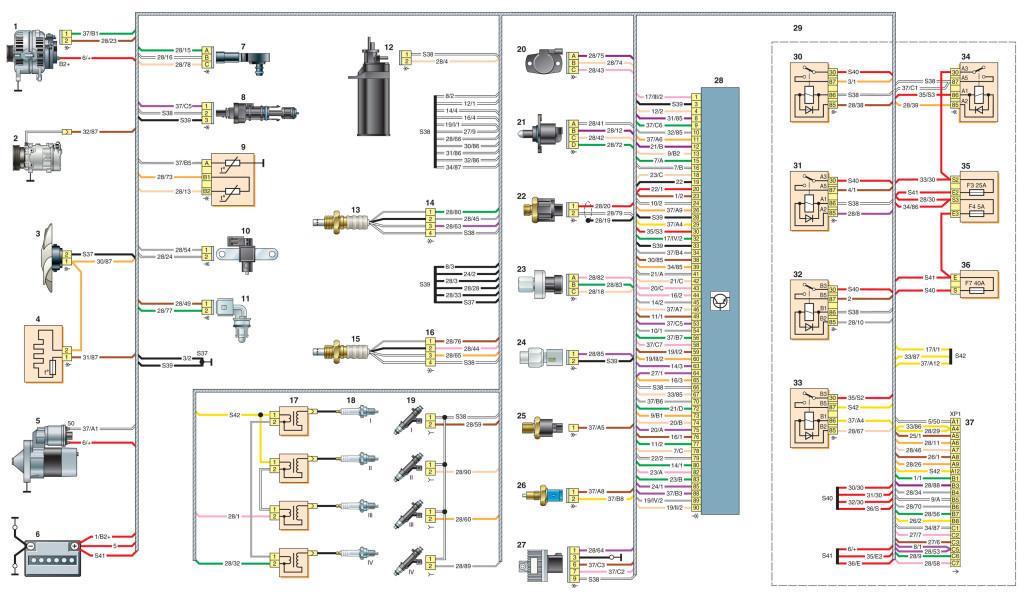 Схемы Nissan Almera - двигатель