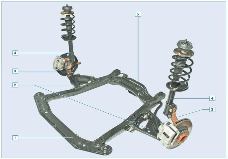 Схема передняя подвеска ниссан альмера классик