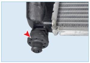 Резиновая подушка нижнего крепления радиатора